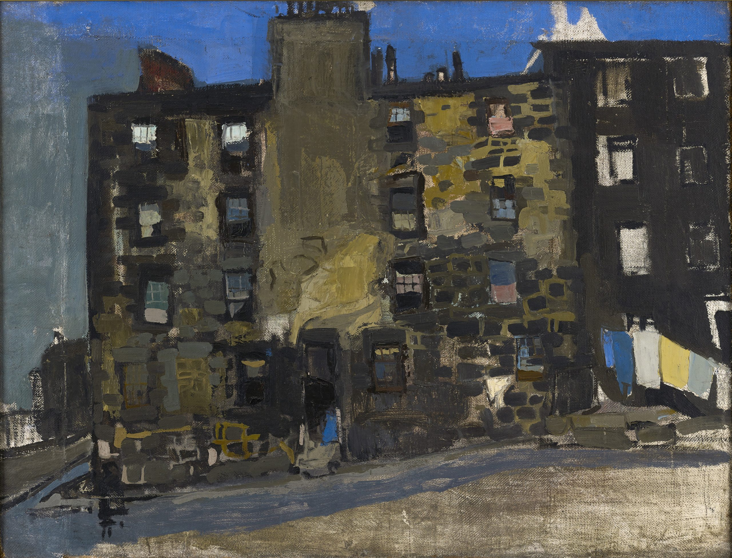 Glasgow Tenement, Blue Sky, 1956, oil on canvas, private collection.
