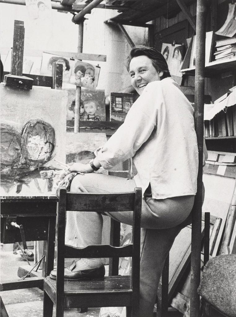 Oscar Marzaroli, Joan Eardley in her Townhead Studio, 1962, original vintage print © The Marzaroli Estate